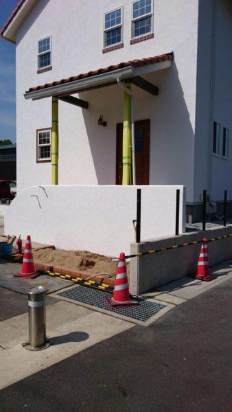福知山市 モデルハウス外構工事